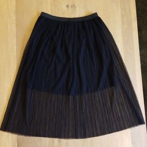 NWT BCBGeneration Black Tulle Skirt Size Small